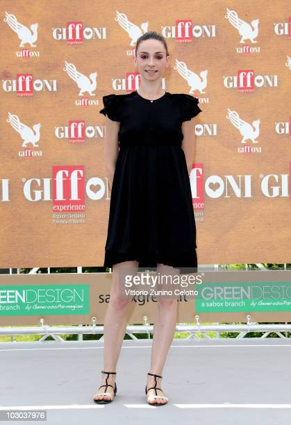 Dancer Anbeta Toromani attends a photocall during the Giffoni Experience 2010 on July 22 2010 in Giffoni Valle Piana Italy
