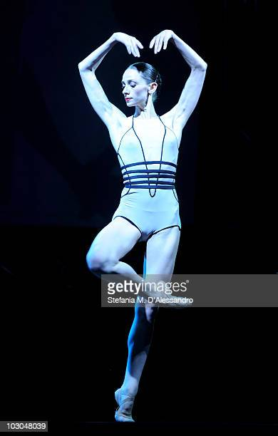 Dancer Anbeta Toromani performs during the Giffoni Experience on July 22 2010 in Giffoni Valle Piana Italy