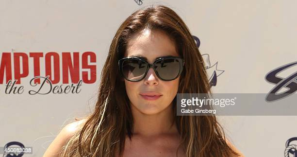 Dancer and backup singer Allison Kyler of Motley Crue arrives at the Sapphire Pool Day Club on June 15 2014 in Las Vegas Nevada