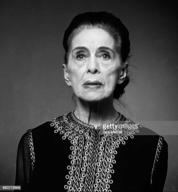 Dancer and Choreographer Martha Graham one of the major figures of modern dance photographed in April 1973 in New York City
