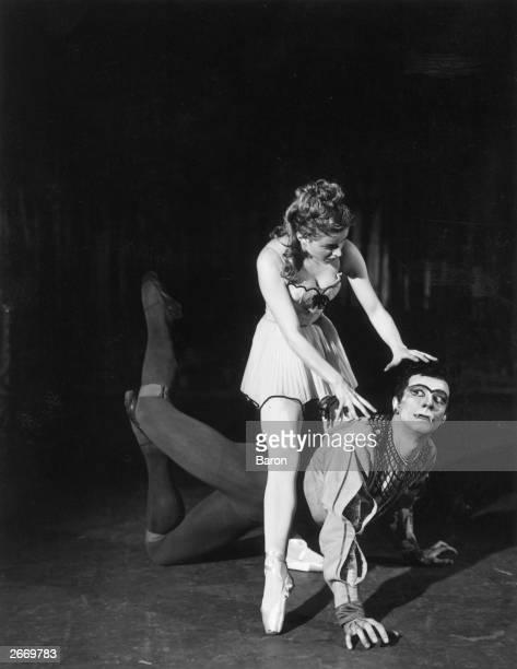 Dancer and choreographer Roland Petit and Violette Verdy dancing in a Ballet de Paris production of 'Le Loup' .