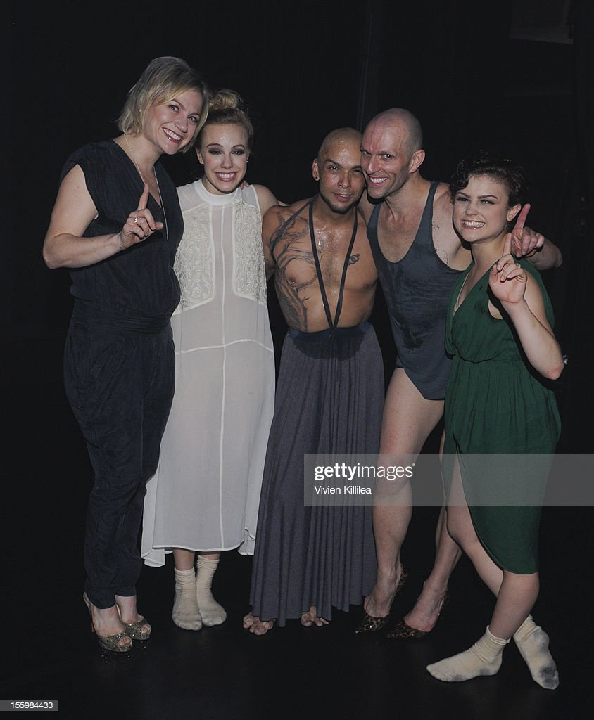 Dancer and choreographer Stacey Tookey and members of her dance company backstage at FOX's 'So You Think You Can Dance' Stacey Tookey Debuts 'Moments Defined' Dance Company at Nate Holden Theatre Center on November 9, 2012 in Los Angeles, California.