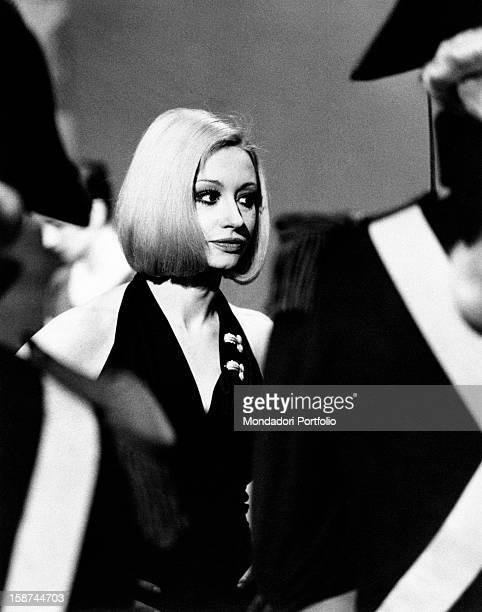 Dancer and presenter Raffaella Carrà during the rehearsal of the TV show Milleluci by Antonello Falqui Rome 1974