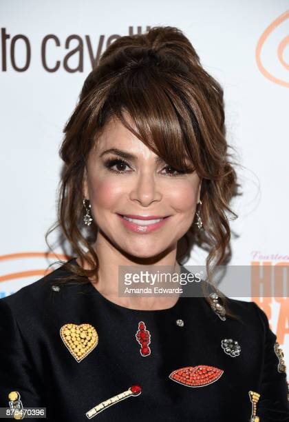 Dancer and singer Paula Abdul arrives at the Lupus LA 15th Annual Hollywood Bag Ladies Luncheon at The Beverly Hilton Hotel on November 17 2017 in...