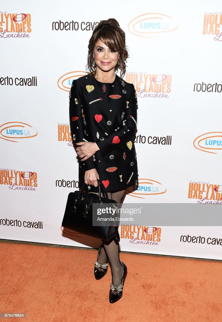 Dancer and singer Paula Abdul arrives at the Lupus LA 15th Annual Hollywood Bag Ladies Luncheon at The Beverly Hilton Hotel on November 17, 2017 in Beverly Hills, California.