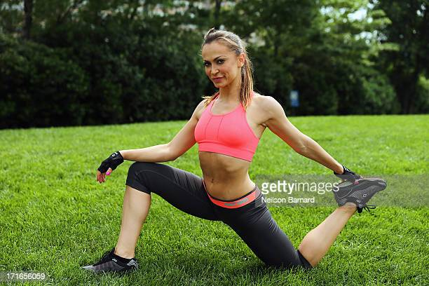Dancer and television personality Karina Smirnoff keeps fit for her return to Broadway in Forever Tango on June 27 2013 in New York City