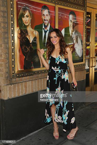 Dancer and television personality Karina Smirnoff seen outside of the Walter Kerr Theatre where she will make her return to Broadway in Forever Tango...
