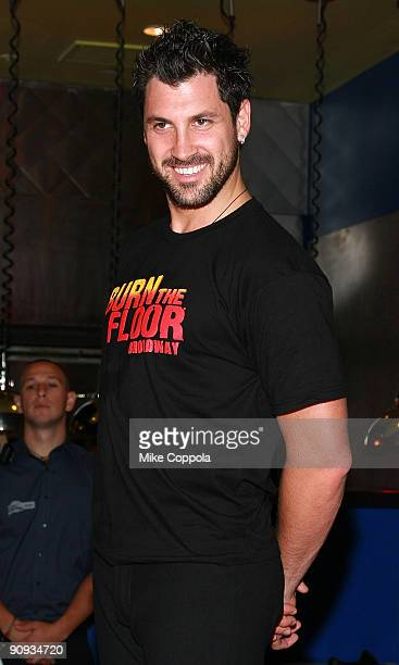 Dancer and TV personality Maksim Chmerkovskiy visits Planet Hollywood Times Square on August 6, 2009 in New York City.