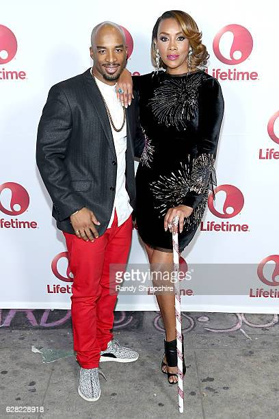 Dancer Andrew 'Penetration' Williams and actress/producer Vivica A Fox arrive to the live show and holiday party for 'Vivica's Black Magic'...