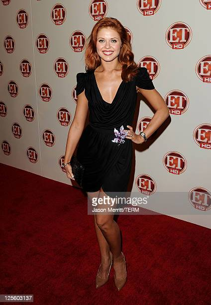 Dancer Anna Trebunskaya attends the 15th annual Entertainment Tonight Emmy party presented by Visit California at Vibiana on September 18 2011 in Los...
