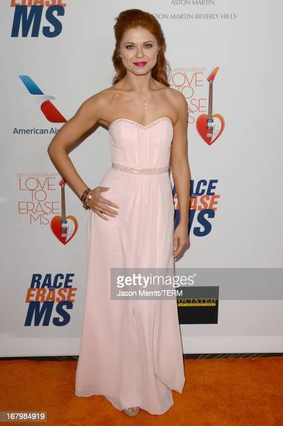 Dancer Anna Trebunskaya attends the 20th Annual Race To Erase MS Gala 'Love To Erase MS' at the Hyatt Regency Century Plaza on May 3 2013 in Century...