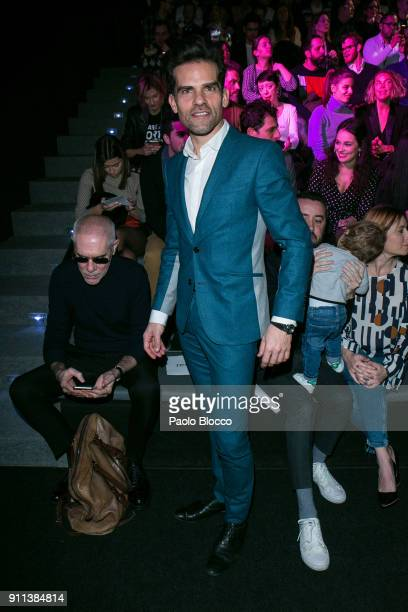 Dancer Antonio Najarro attends the front row of Garcia Madrid show during Mercedes Benz Fashion Week Madrid Autumn / Winter 2018 at Ifema on January...