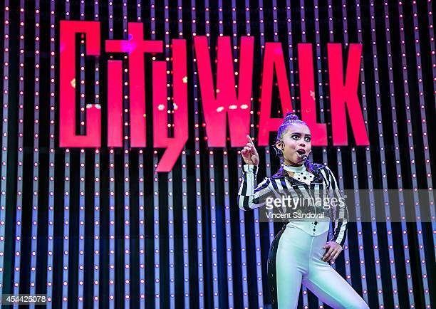 Dancer Asia Monet Ray performs during Universal CityWalk's 'Music Spotlight Series' at 5 Towers Outdoor Concert Arena on August 30 2014 in Universal...