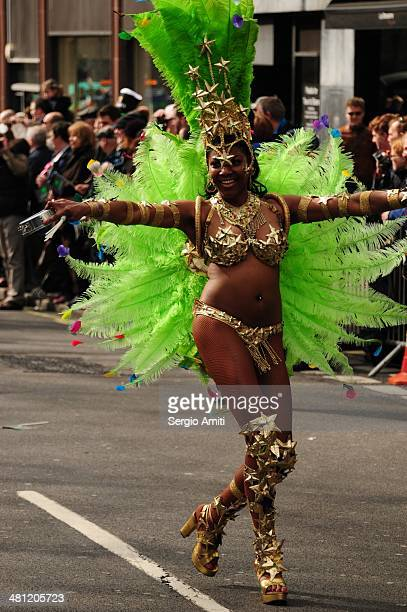 Dancer at the Saint Patrick's Day Parade London