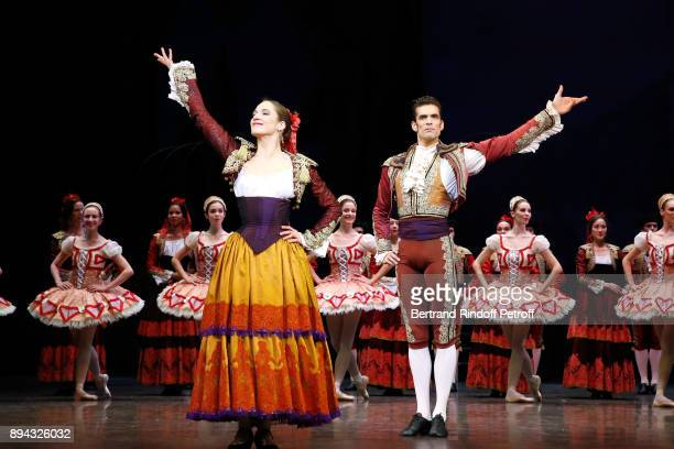 Dancer Audric Bezard and Dancers acknowledge the applause of the audience at the end of 'Don Quichotte' during the 32th 'Reve d'Enfants' Charity Gala...