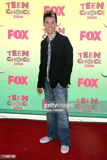 Dancer Benji Schwimmer from So You Think You Can Dance arrives at the 8th Annual Teen Choice Awards at the Gibson Amphitheatre on August 20 2006 in...