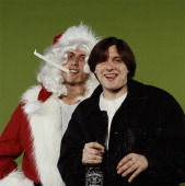 Dancer bez as a jointsmoking santa and singer shaun ryder of the picture id138182109?s=170x170