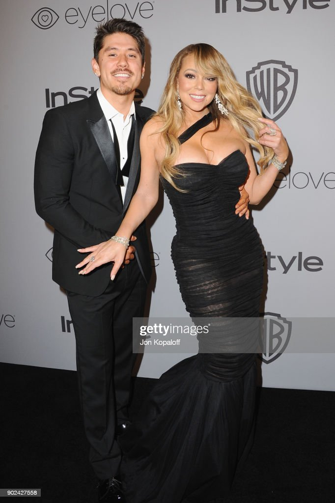Dancer Brian Tanaka and Singer Mariah Carey attend the 19th Annual Post-Golden Globes Party hosted by Warner Bros. Pictures and InStyle at The Beverly Hilton Hotel on January 7, 2018 in Beverly Hills, California.