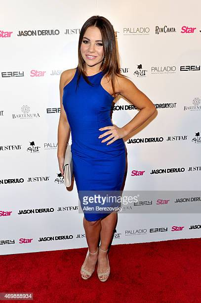 Dancer Brittany Cherry attends Star Magazine's Hollywood Rocks Event with Jason Derulo at The Argyle on April 15 2015 in Hollywood California