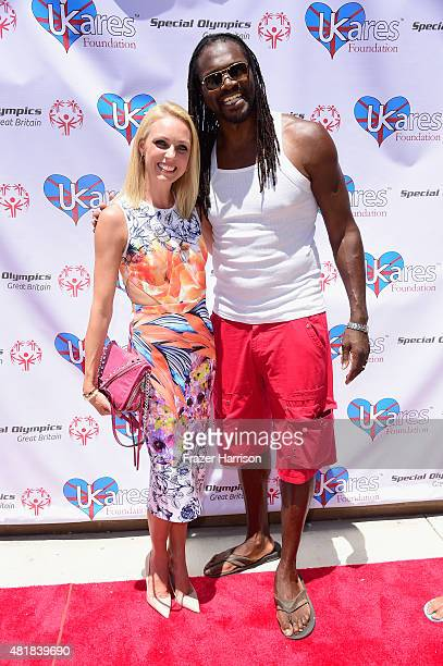 Dancer Camilla Dallerup and Olympic Gold Medalist Heavyweight Boxer Audley Harrison MBE attend the British Consul General LA Garden Party Welcomes...