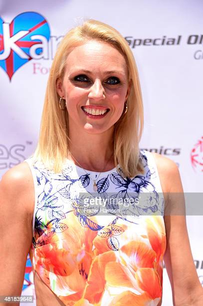 Dancer Camilla Dallerup attends the British Consul General LA Garden Party Welcomes The 2015 Special Olympics World Games Great Britain Team at The...