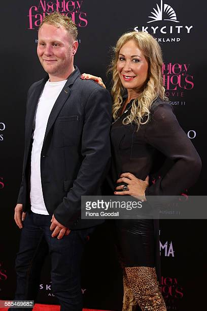 Dancer Candy Lane and Ben Lane arrive ahead of the Absolutely Fabulous The Movie NZ premiere at Sky City on August 3 2016 in Auckland New Zealand