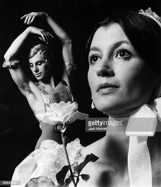 """Dancer Carla Fracci performing """"Spectre of the Rose"""" with Paolo Bortoluzzi, 1972."""