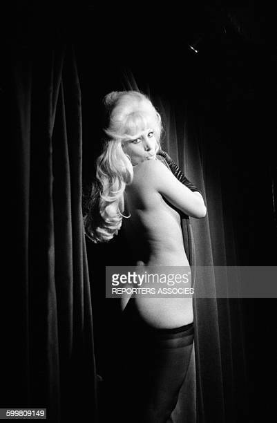 Dancer Carole Riva At Crazy Horse Saloon in Paris France in November 1961