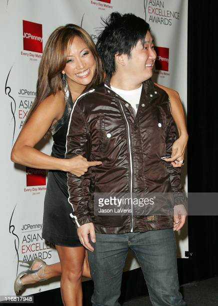 Dancer Carrie Ann Inaba and comedian Bobby Lee attend the 2008 JCPenney Asian Excellence Awards Nominations Press Conference at the Sofitel Hotel on...