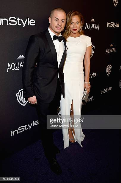 Dancer Casper Smart and actress/singer Jennifer Lopez attend The 2016 InStyle And Warner Bros 73rd Annual Golden Globe Awards PostParty at The...