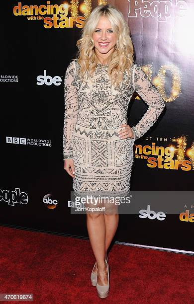 Dancer Chelsie Hightower arrives at the 10th Anniversary Of Dancing With The Stars Party at Greystone Manor on April 21 2015 in West Hollywood...