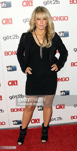 Dancer Chelsie Hightower attends the OK Magazine Toasts Hollywood's Sexiest Singles event at the Lexington Social House on April 14 2011 in Hollywood...
