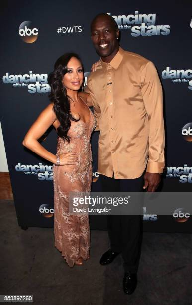Dancer Cheryl Burke and former NFL player Terrell Owens attend 'Dancing with the Stars' season 25 at CBS Televison City on September 25 2017 in Los...