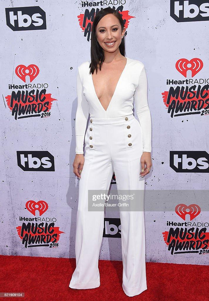 Dancer Cheryl Burke arrives at iHeartRadio Music Awards on April 3, 2016 in Inglewood, California.