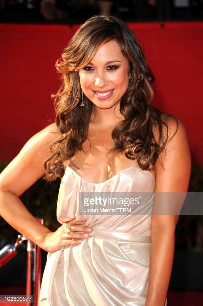 Dancer Cheryl Burke arrives at the 2010 ESPY Awards at Nokia Theatre LA Live on July 14 2010 in Los Angeles California