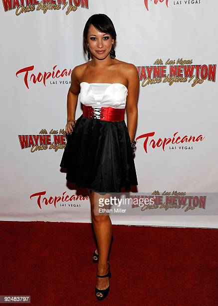 Dancer Cheryl Burke arrives at the opening of Wayne Newton's limitedengagement production Once Before I Go at the Tropicana Las Vegas October 28 2009...