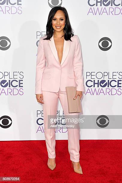 Dancer Cheryl Burke arrives at the People's Choice Awards 2016 at Microsoft Theater on January 6 2016 in Los Angeles California