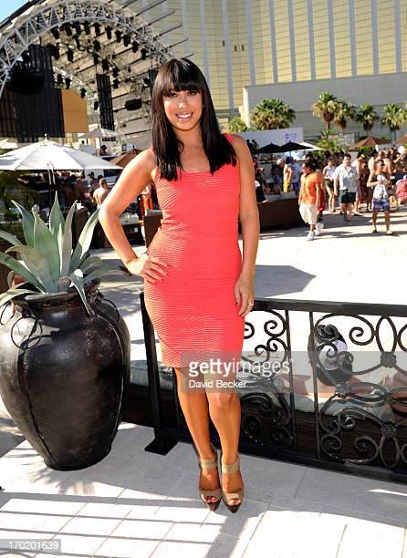 Dancer Cheryl Burke attends Allison Melnick's birthday celebration at Daylight Beach Club at the Mandalay Bay Resort Casino on June 8 2013 in Las...