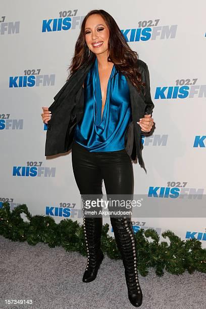 Dancer Cheryl Burke attends KIIS FM's 2012 Jingle Ball at Nokia Theatre LA Live on December 1 2012 in Los Angeles California