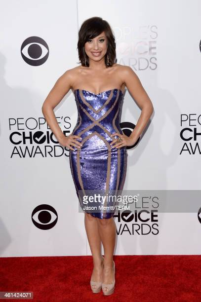 Dancer Cheryl Burke attends The 40th Annual People's Choice Awards at Nokia Theatre LA Live on January 8 2014 in Los Angeles California