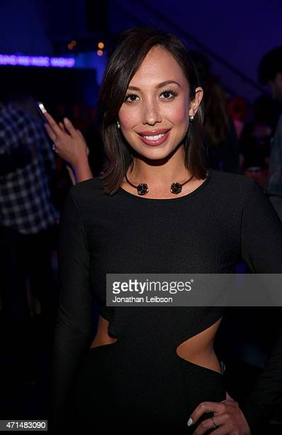 Dancer Cheryl Burke attends the Samsung Studio LA Launch Event across from the Grove on April 28 2015 in Los Angeles California
