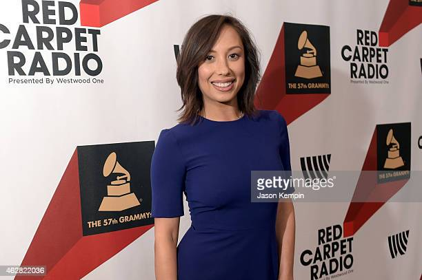 Dancer Cheryl Burke poses backstage at The GRAMMYs Westwood One Radio Remotes during The 57th Annual GRAMMY Awards at Staples Center on February 5...