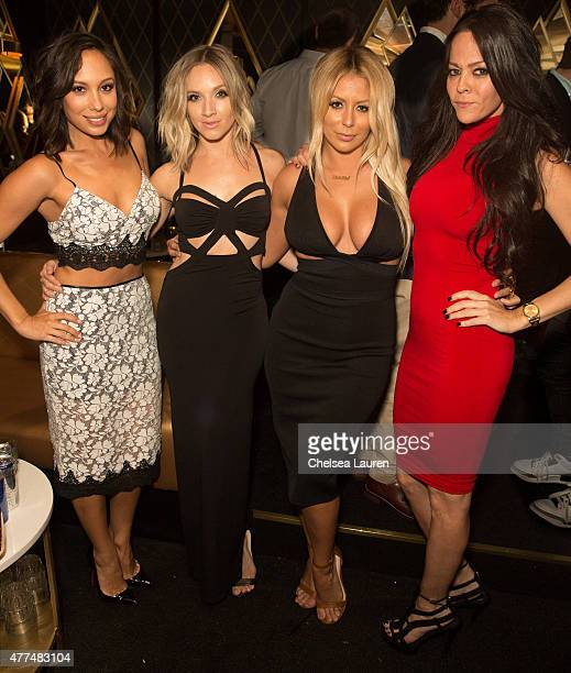 Dancer Cheryl Burke singer Shannon Bex singer Aubrey O'Day and TV personality Allison Melnick attend the Bootsy Bellows ReOpening at Bootsy Bellows...