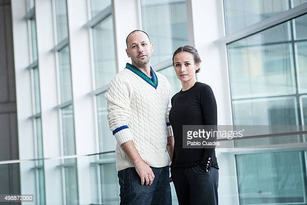 Dancer Chevi Muraday and actress Marta Etura pose for a portrait session on November 26, 2015 in Madrid, Spain.