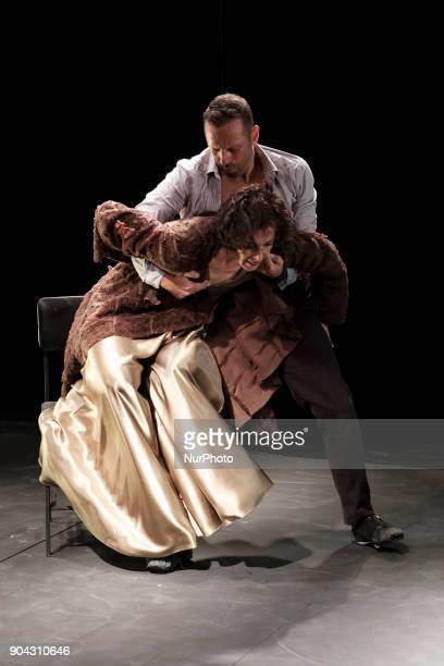 Dancer Chevi Muraday during the presentation of the 'Black Apple' show at the Teatro Español in Madrid 12 Enero
