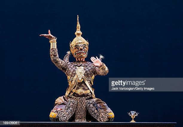 Dancer Chhorn Niboran of the Royal Ballet of Cambodia performs in 'The Churning of the Sea of Milk' as part of the BAM/Seasons of Cambodia production...