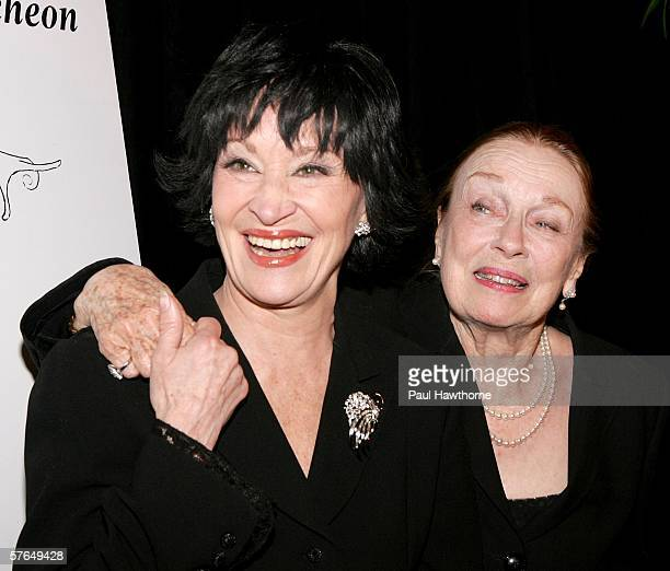 Dancer Chita Rivera and actress Patricia Morison attend the New Dramatists 57th Annual Benefit Luncheon to honor Rivera at The Marriott Marquis May...