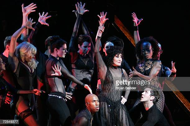 Dancer Chita Rivera performs onstage at a dress rehearsal for the 10th anniversary of Broadway's Chicago on November 14 2006 in New York City