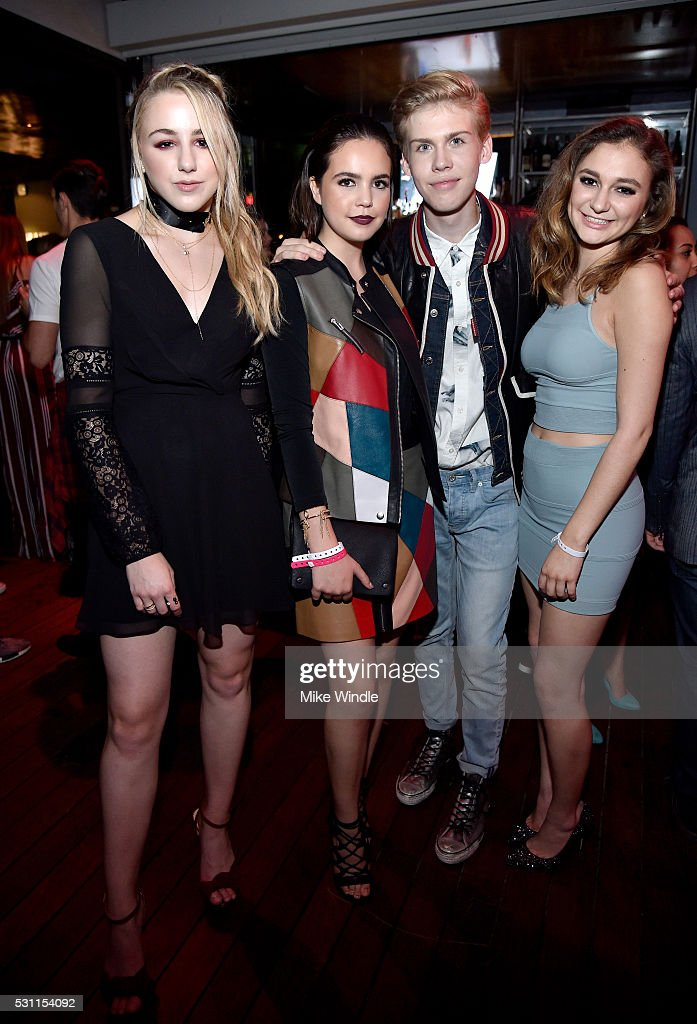 Dancer Chloe Lukasiak, actress Bailee Madison, actor Aidan J. Alexander and singer Daya attend NYLON Young Hollywood Party, presented by BCBGeneration at HYDE Sunset: Kitchen + Cocktails on May 12, 2016 in West Hollywood, California.