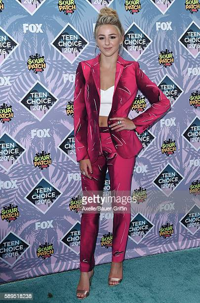 Dancer Chloe Lukasiak arrives at the Teen Choice Awards 2016 at The Forum on July 31 2016 in Inglewood California